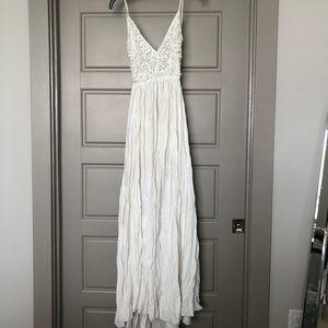 Backless Crochet Maxi Dress NWOT